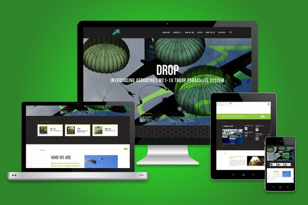Aerodyne Website Design