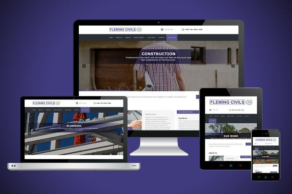 Fleming Civils Website Design
