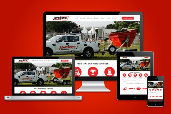 Johnsons Mini Skips Website Design