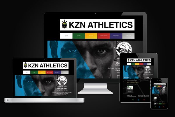 KZN Athletics Website Design