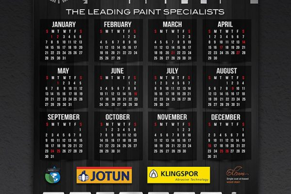 Paintec  Calendar Design