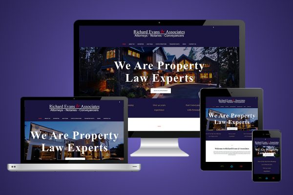 Richard Evans and Associates Website Design