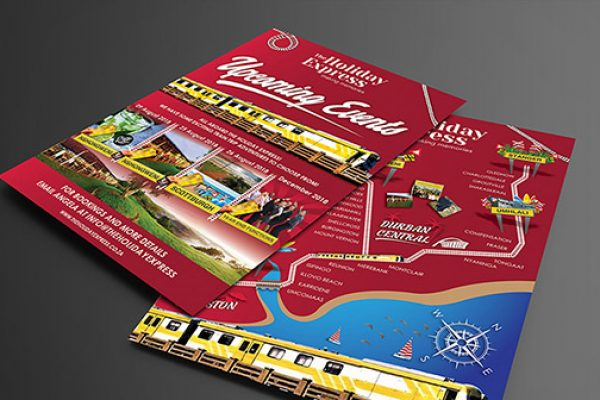 The Holiday Express Flyer Design
