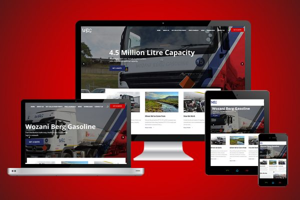 Wozani Berg Gasoline (WBG) Website Design